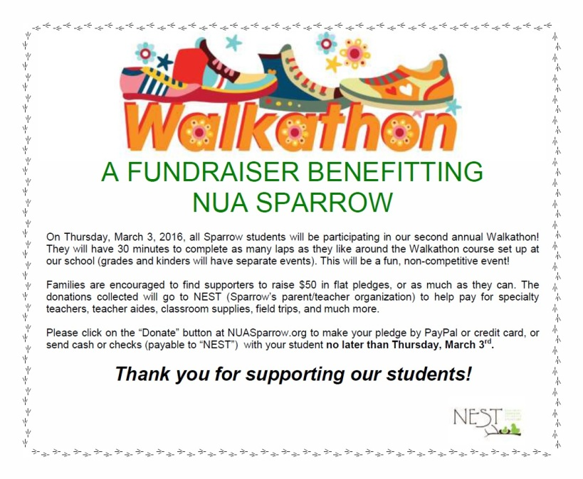 Walkathon 2016 Flyer